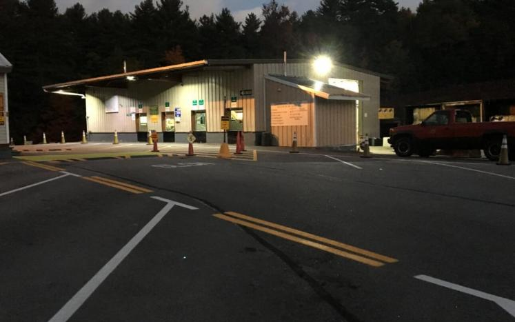 Transfer Station after dark